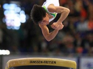 Oksana Chusovitina – who won her first World title in 1991!! – wins silver on vault at the 2012 European Gymnastics Championships