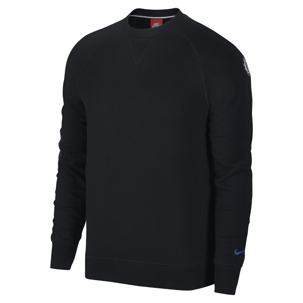 f0309570 Nike Chelsea FC French Terry Authentic Men's Sweatshirt Size Medium (Black)