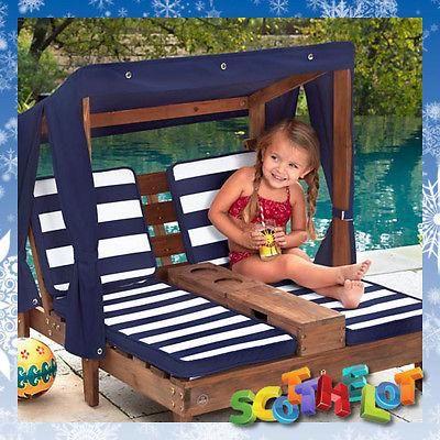 Shop Kids Childs Outdoor Garden Double Chaise Longue Twin