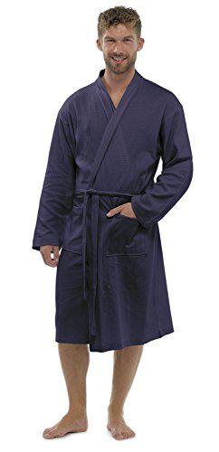 Mens/gentlemens Nightwear/sleepwear Waffle Long Sleeve Bath Robe ...