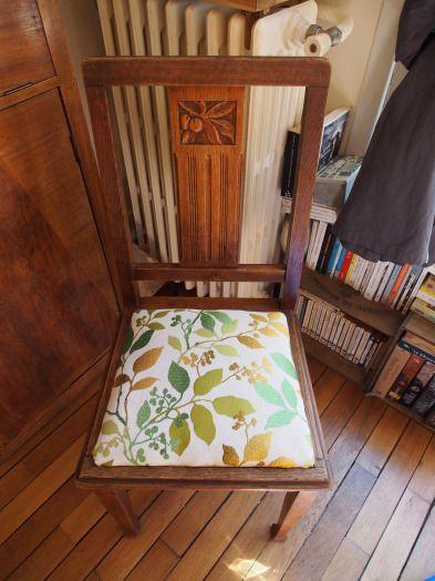 tuto restauration de chaise tutoriels couture pinterest chaise vieilles chaises et. Black Bedroom Furniture Sets. Home Design Ideas