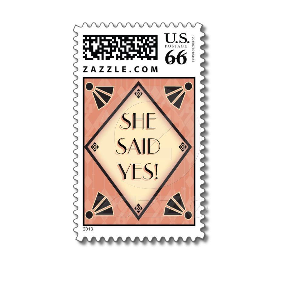 Art Deco Wedding Postage Stamp   Wedding postage stamps, Wedding ...