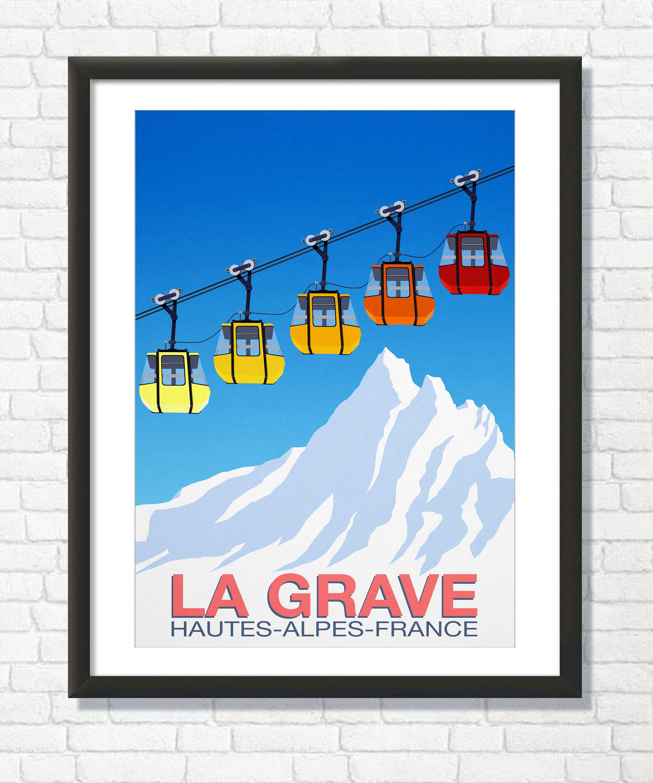 Hautes - Alpes - France Vintage Travel Poster La Grave