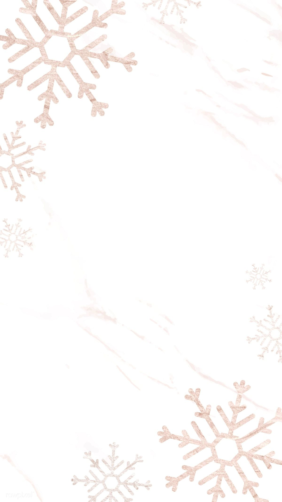 Download Premium Vector Of Snowflakes Patterned On White Mobile Phone Christmas Phone Wallpaper Winter Wallpaper Wallpaper Iphone Christmas