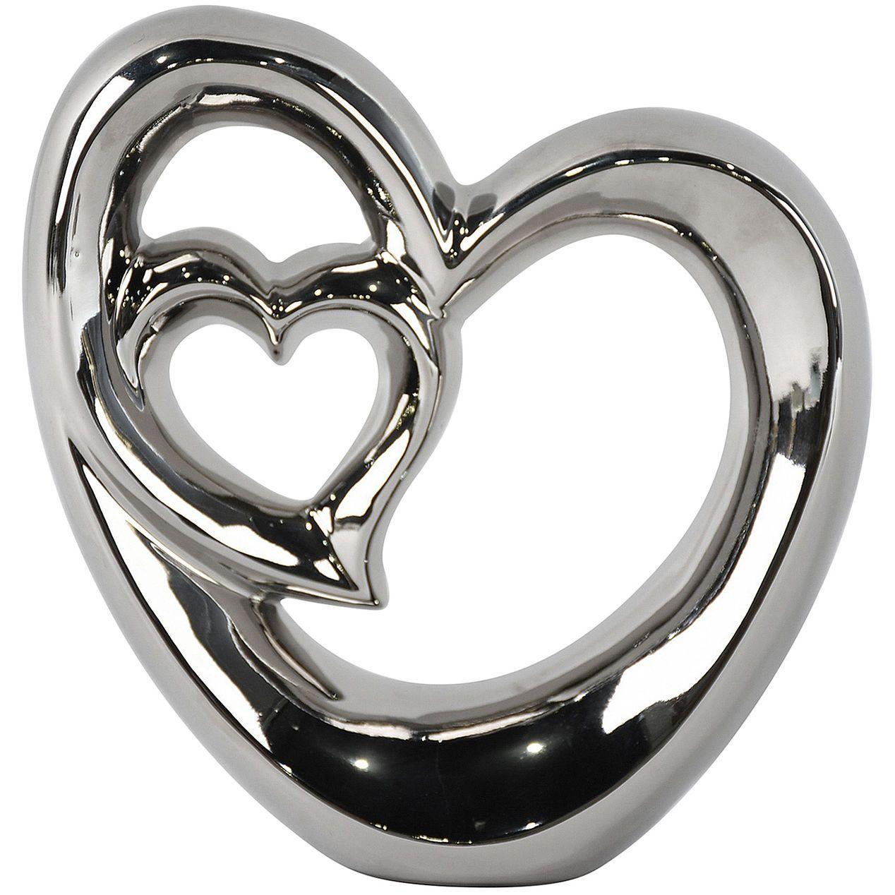 9 In Silver Heart Decor Heart Decorations Decor Silver Heart