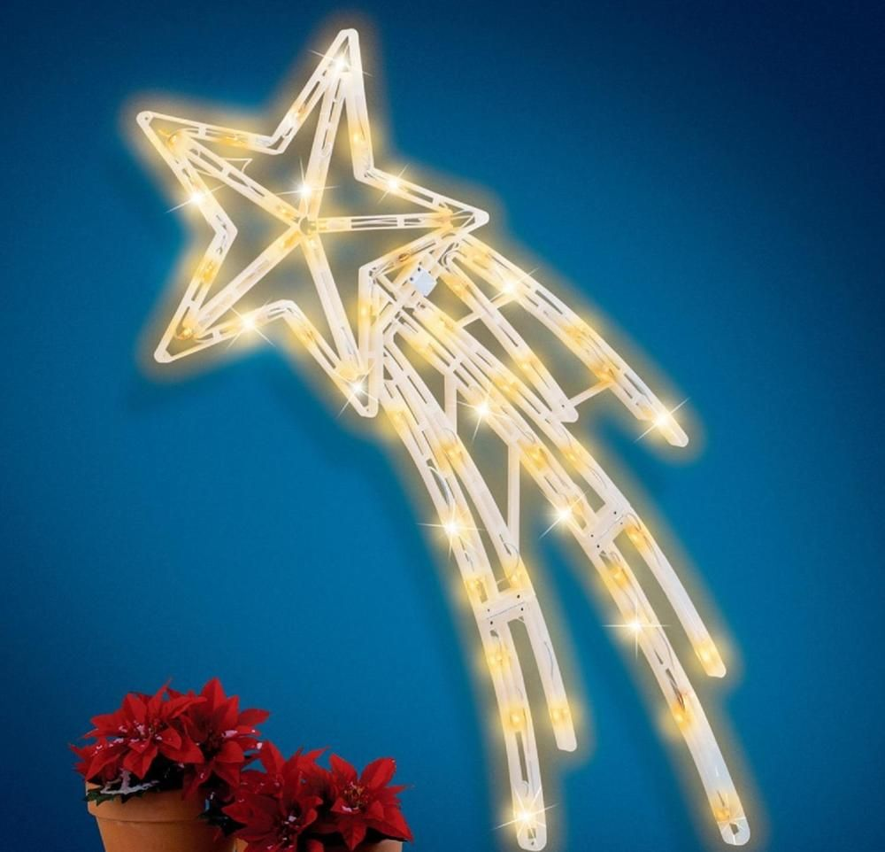 Shooting Star Lighted Indoor Outdoor Wall Decoration W Twinkling Bulbs 40 1 2 L Ceas Outdoor Wall Decor Shooting Stars Window Decor