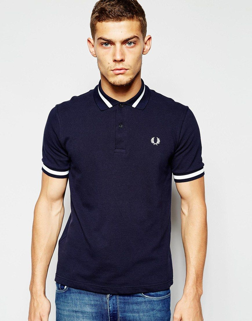 bc8848e39c28c Fred Perry Laurel Wreath Polo Shirt with Single Tip