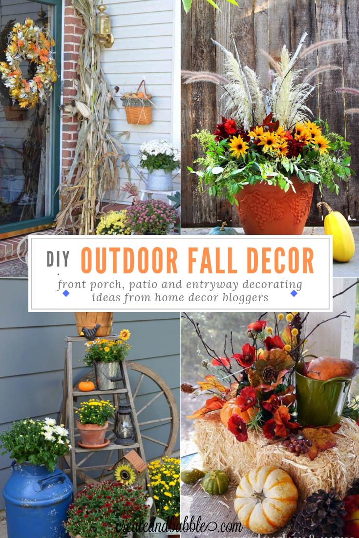 21 Beautiful Outdoor Fall Decorating Ideas To Inspire You Fall Outdoor Decor Fall Decorations Porch Fall Decor
