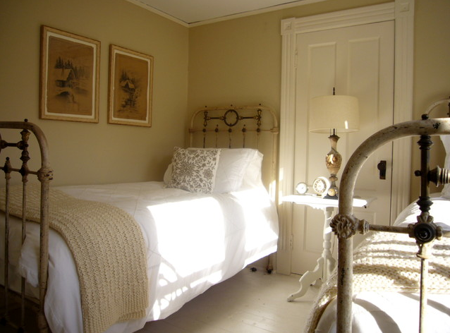 Matching pair of narrow British twin beds...perfect for