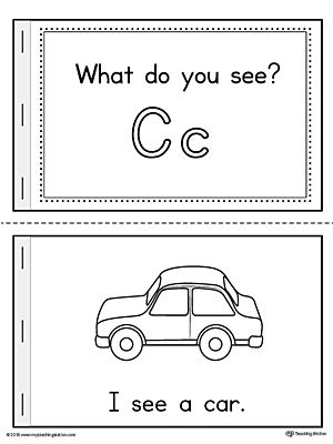 Letter C Words Printable Mini Book  Car Cakes Worksheets And Phonics