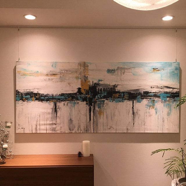 Landscape textured abstract painting by jolina anthony in