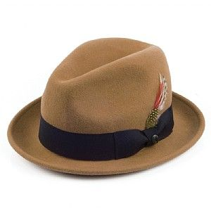 742696fbaba Jaxon Hats Crushable Blues Trilby - Pecan from Village Hats.