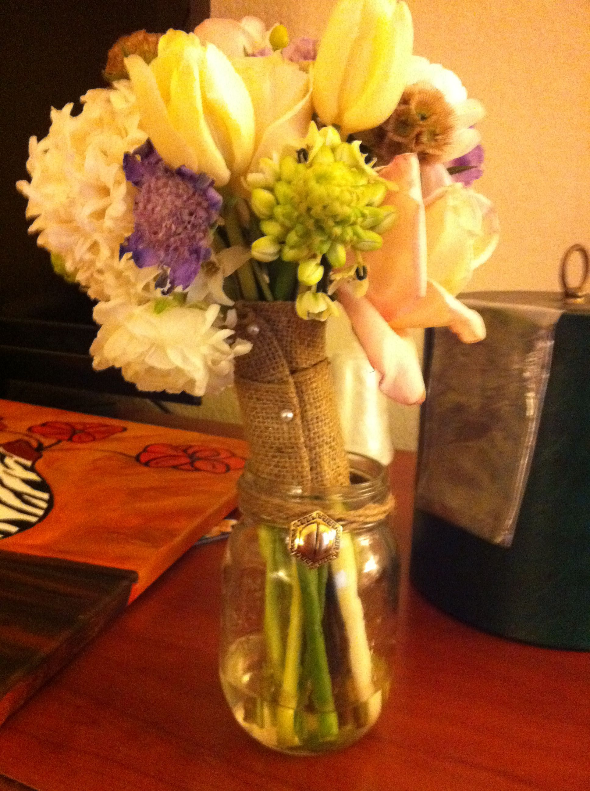 These are the flowers from @Stephanie Fleming's wedding!