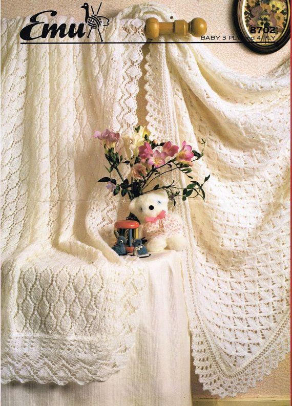 Emu 8702 baby shawls christening vintage knitting by Ellisadine ...