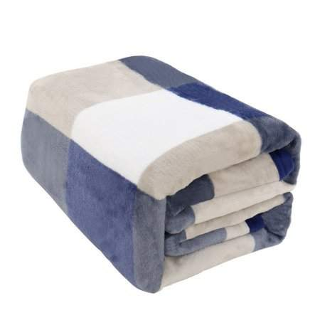 2 Layer Revisible Throw Blanket Plush Sherpa Fleece /& Smooth Comfotable Flannel