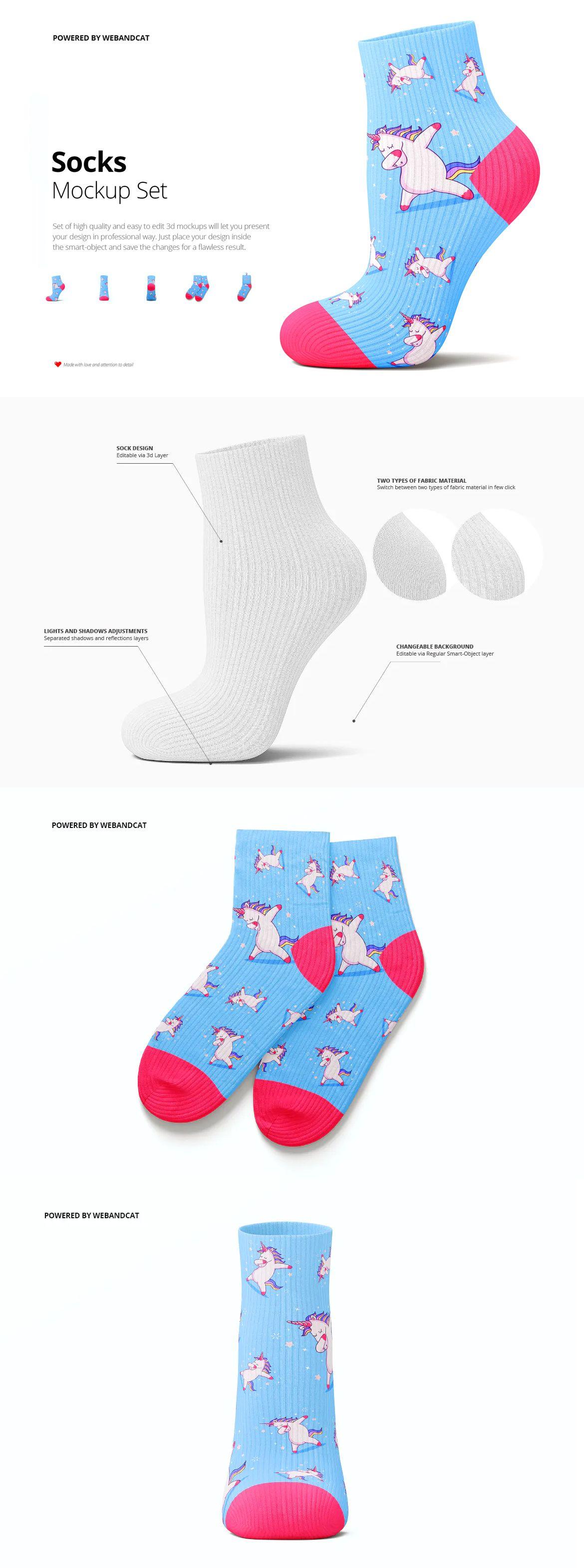 Download Socks 3d Mockup Psd Mockup Socks Mockup Design
