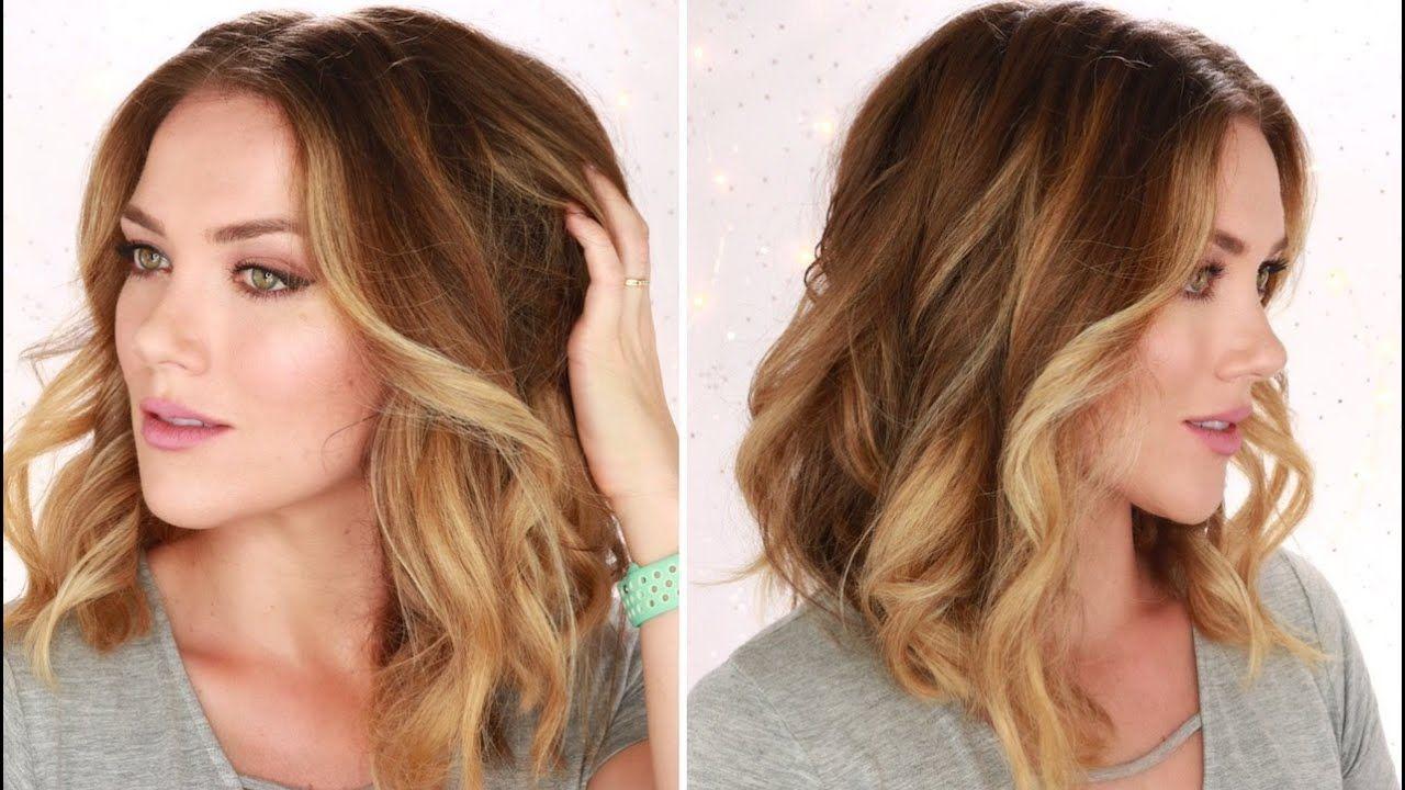 How To Curl Your Hair Big Soft Beach Waves Short To Medium Hair Hair Waves Curled Hairstyles For Medium Hair Beachy Waves Hair Tutorial