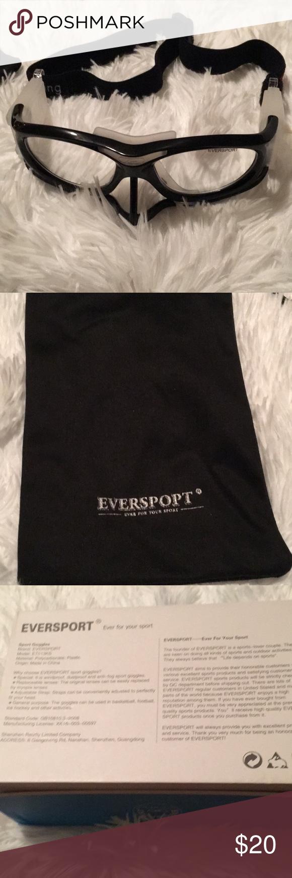 Eversport Safety Googles Portable bag, Soft black