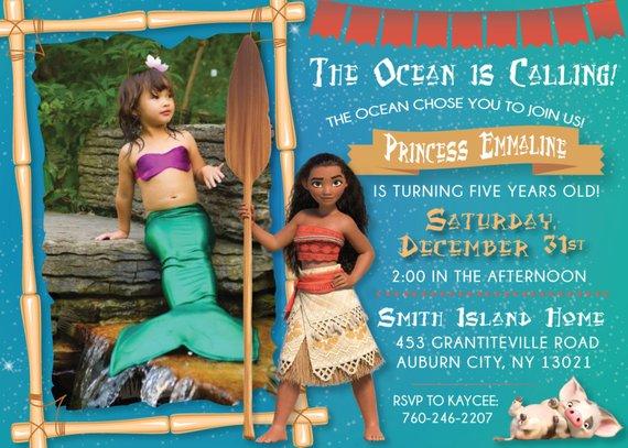 Moana Birthday Party Printable Invitation