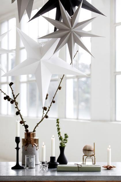 Schöner Wohnen Weihnachtsdeko.Sterne Aus Papier Und In Gedeckten Farben Bild 2 Weihnachtsdeko