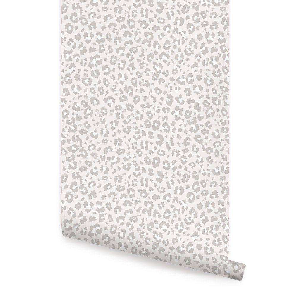 Animal Print Leopard Wallpaper Light Grey Self Adhesive Etsy Peel And Stick Wallpaper Leopard Wallpaper Leopard Print Wallpaper