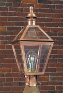 Colonial post lantern p212 in antique copper finish exterior colonial post lantern p212 in antique copper finish aloadofball Image collections