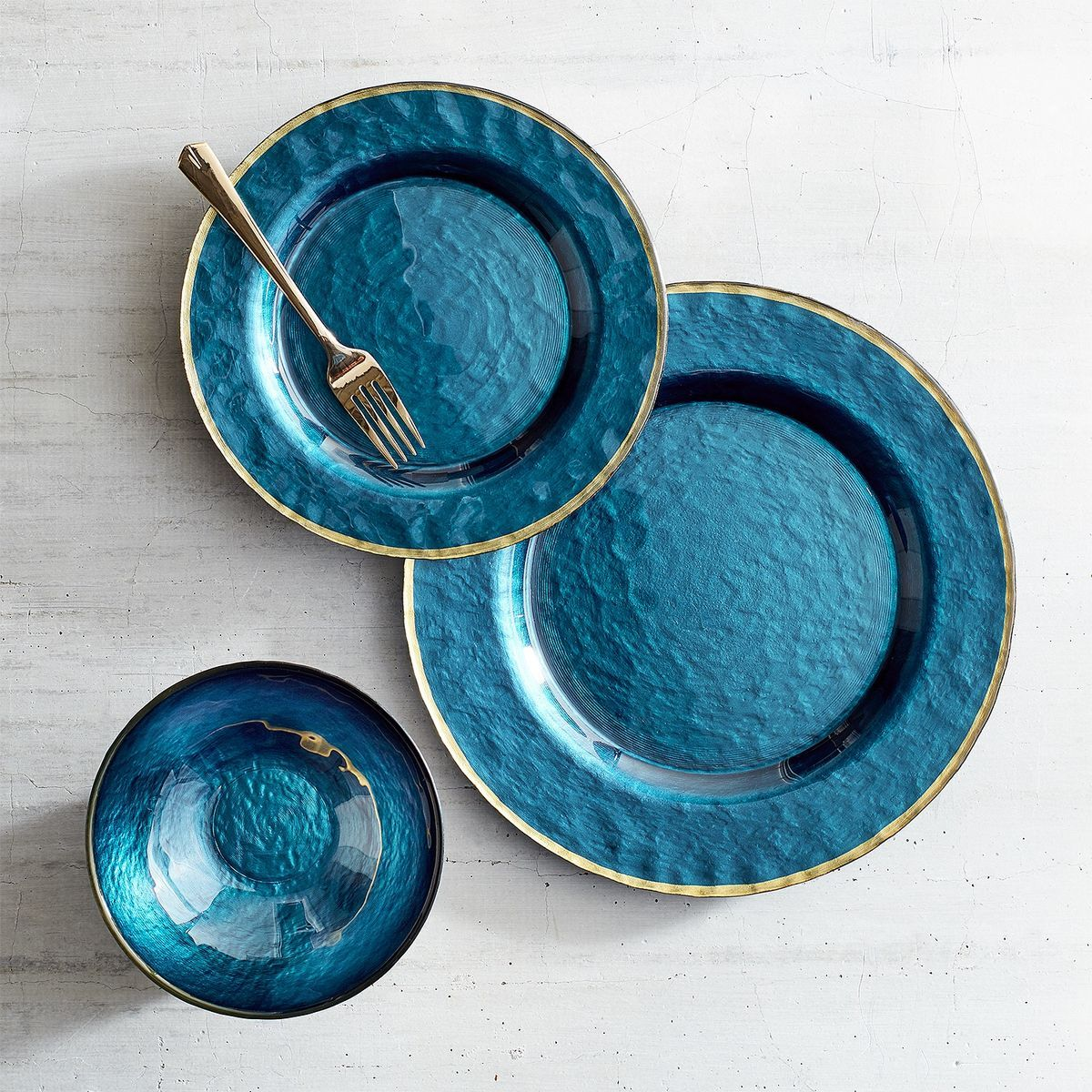 Evelyn Deep Blue Glass Dinnerware Pier 1 Imports Glass