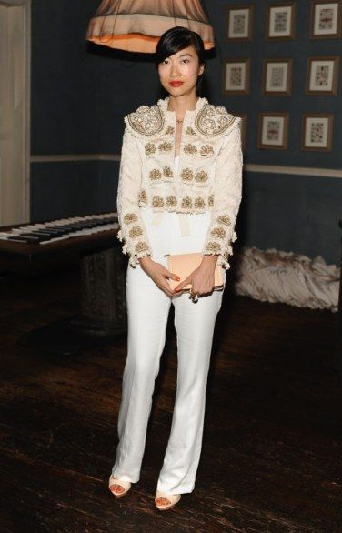 h and m amber valletta jumpsuit   Torna al post: H&M Conscious Collection Exclusive 2014: il party a ...