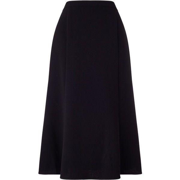 Eastex Crepe Fit & Flare Skirt Short (605 DKK) ❤ liked on Polyvore featuring skirts, mini skirts, black, women, short skirts, mini circle skirt, short circle skirt, eastex and circle skirt