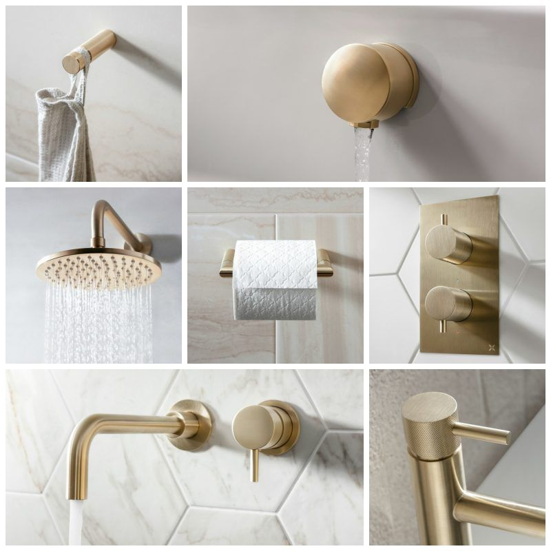 Photo of Crosswater MPRO Brushed Brass und Matt Black Brassware