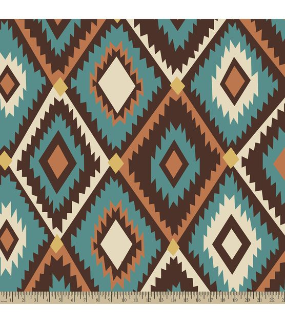 Anti Pill Fleece Fabric Southwestern Diamond Wallpapers