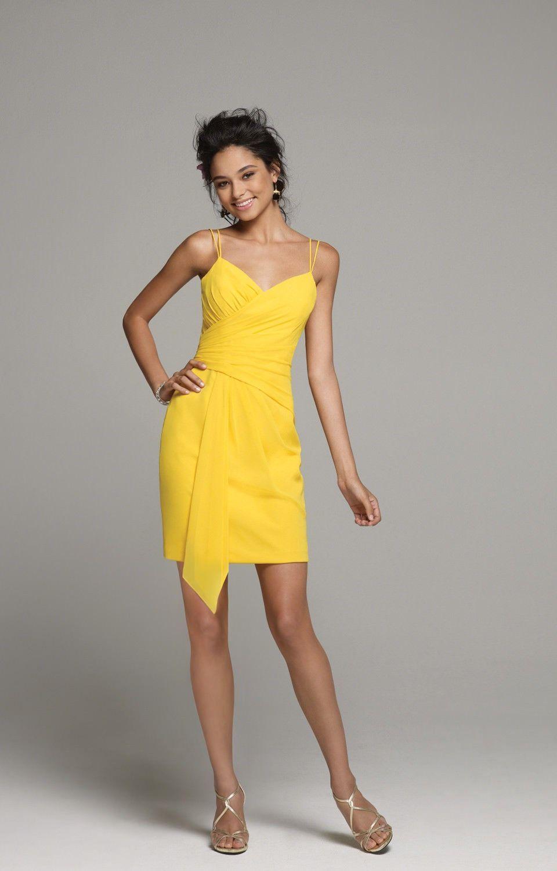 Alfred angelo 7258 canary size 8 short chiffon bridesmaid dress alfred angelo 7258 canary size 8 short chiffon bridesmaid dress ombrellifo Gallery