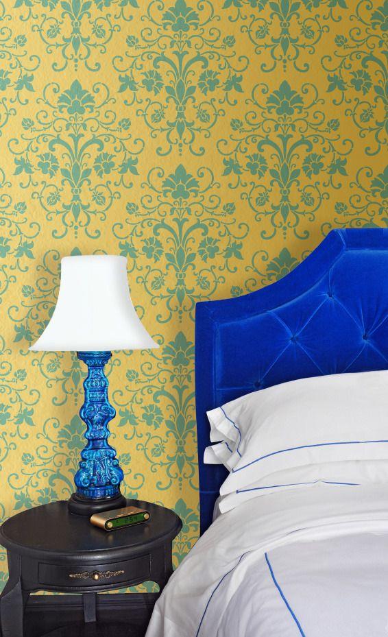 Elegancia Allover Stencil | Wall stenciling, Wall decor and Walls