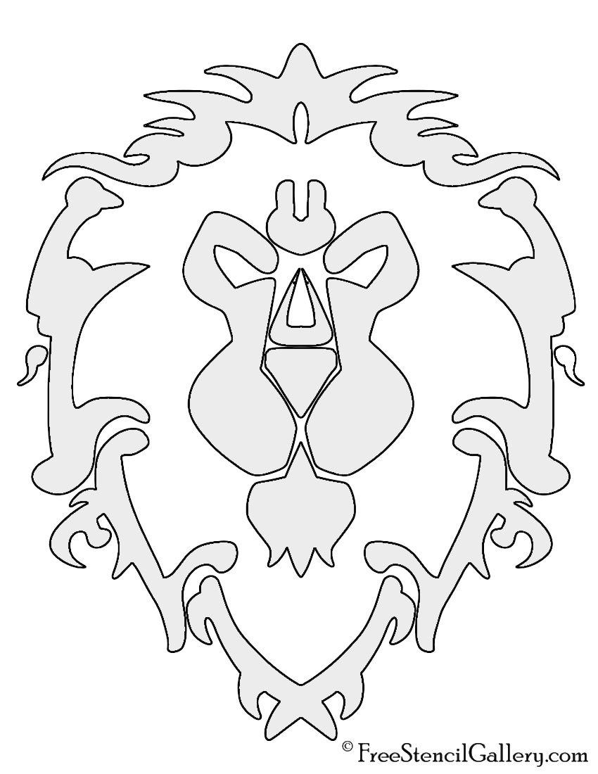 Warcraft Alliance Symbol Stencil Pumpkin Designs In 2019 World