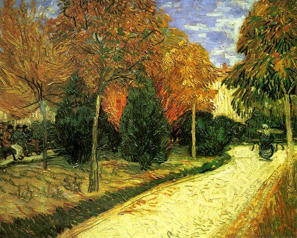 A Lane In The Public Garden By Vincent Van Gogh | Art Posters U0026 Prints