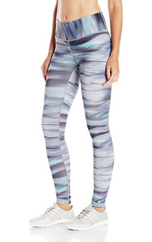 c17b7252047f63 Champion Women's Absolute Legging with Smoothtec Waistband, Blurry Glitch,  X-Small ❤ Champion Women's Activewear