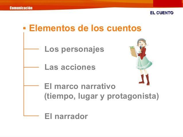 Los personajes Las acciones El marco narrativo (tiempo, lugar y ...