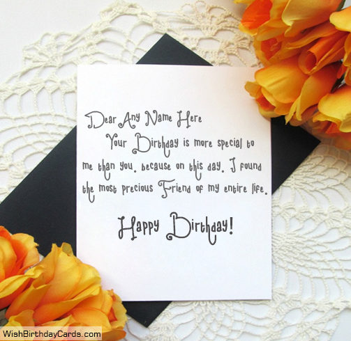 Wishing Birthday To Best Friends With Name Cards – Birthday Cards for Best Friends