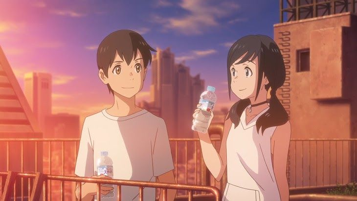 Anime movie review your name weathering with you in