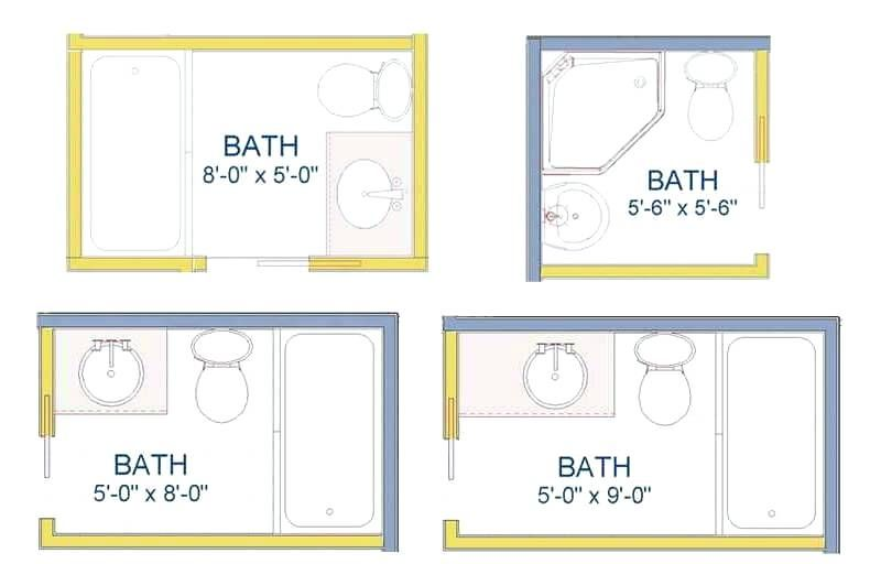 Smallest Bathroom Floor Plan Nice Layout For Small Bathroom