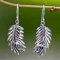 Pearl dangle earrings, 'Dewdrops'