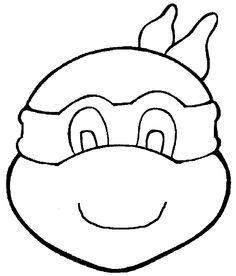 tmnt party ideas diy ninja turtle goodie bags - Ninja Turtles Face Coloring Pages