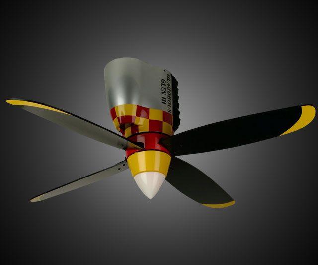 Warplane Propeller Ceiling Fan Dudeiwantthat Com Propeller