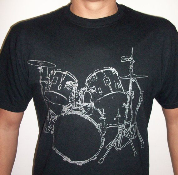 0666860a66 Drums+T+shirt+cool+Musician+Tshirt+screenprinted+by+MyPersonaliTs,+$ ...