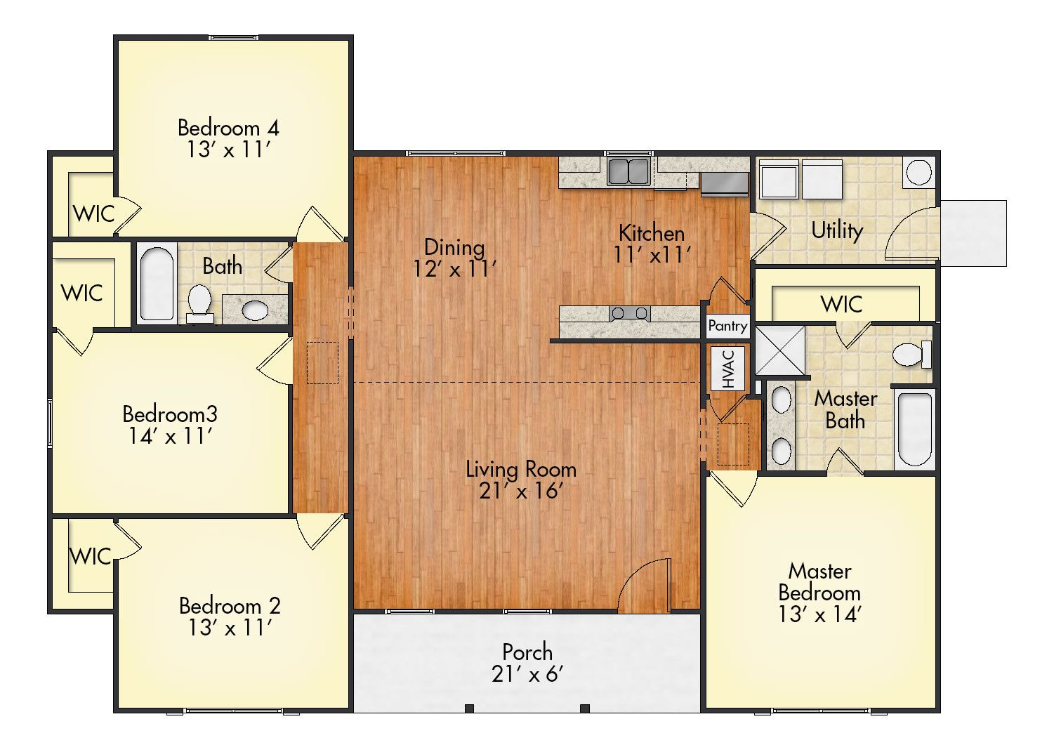 Four Walk In Closets. One Happy Family. Check Out The Kentwood Floorplan By  UBH. Then Let Us Build It Without The Need For A Construction Loan!