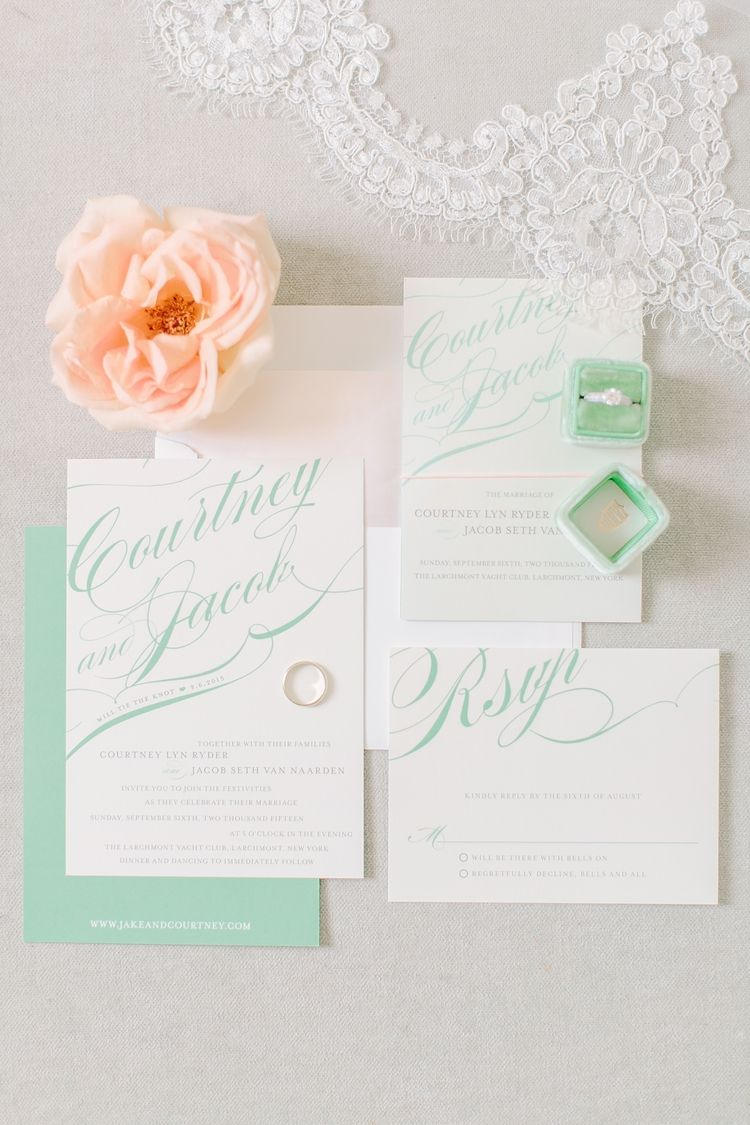 Green Blush Wedding Invitations | Photography by @Jessa Schifilliti ...
