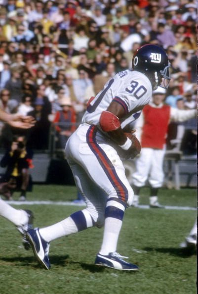 310089932 Running back Ron Johnson of the New York Giants . Johnson played for the  Giants from 1970-75