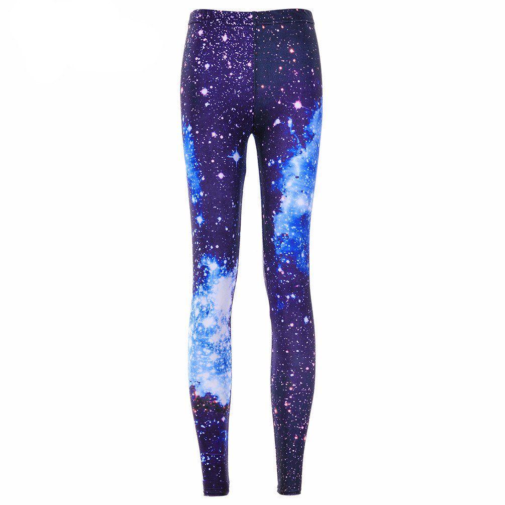 589bc8cf49d9f0 Galaxy Blue Leggings | Printed Leggings | Galaxy leggings, Leggings ...