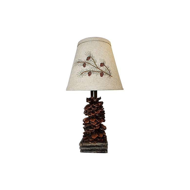 Teton 13 High Pine Cone Accent Table Lamp 24r71 Lamps Plus In 2021 Accent Table Lamp Table Lamp