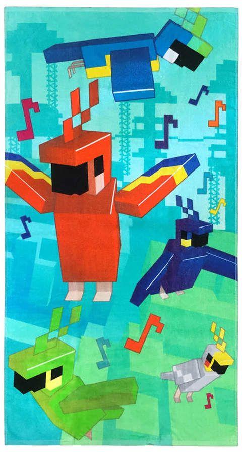 Minecraft Mojang Jungle Parrots Beach Towel Reviews Bath